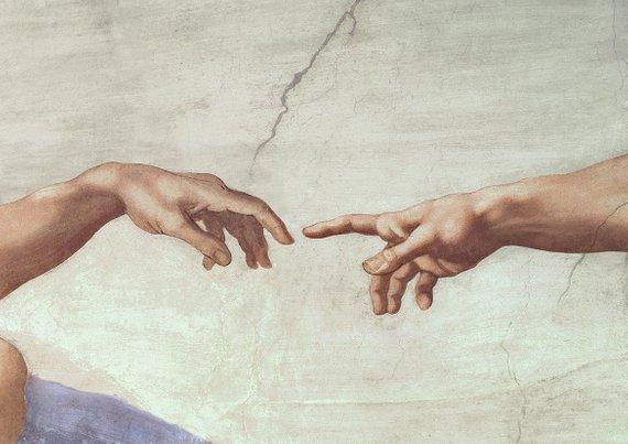 Michelangelo - Creazione Adamo (dettaglio)