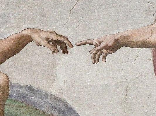800px-Creation_of_Adam_(Michelangelo)_Detail